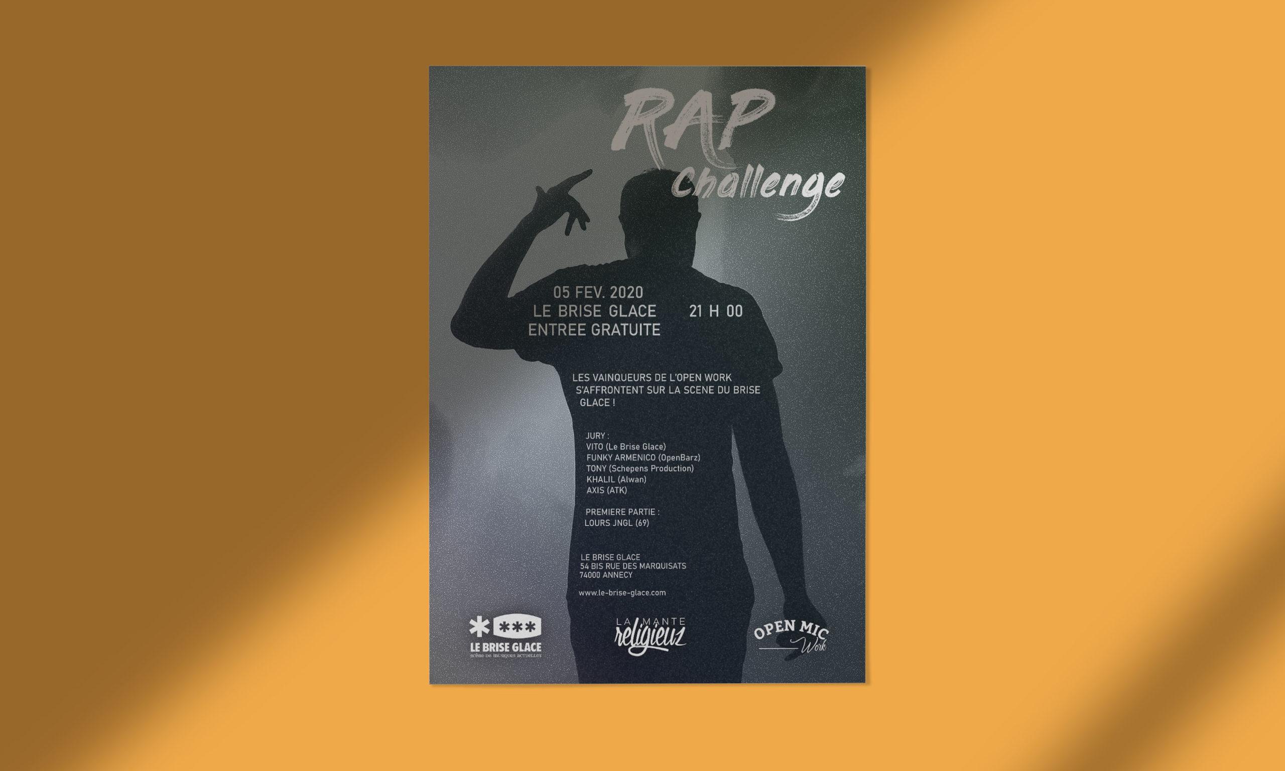 Affiche LaManteReligieuz, association rap et musique d'Annecy