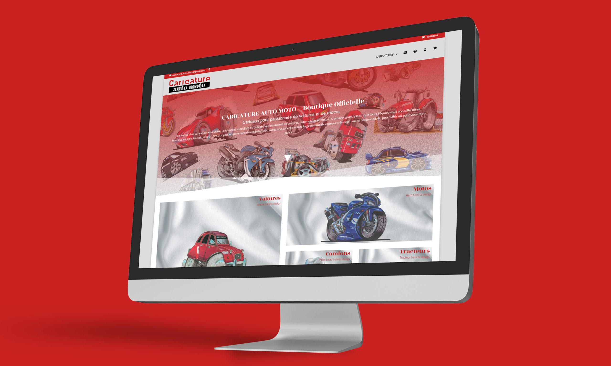 Boutique en ligne Caricature Auto Moto, vente de t-shirt personnalisés