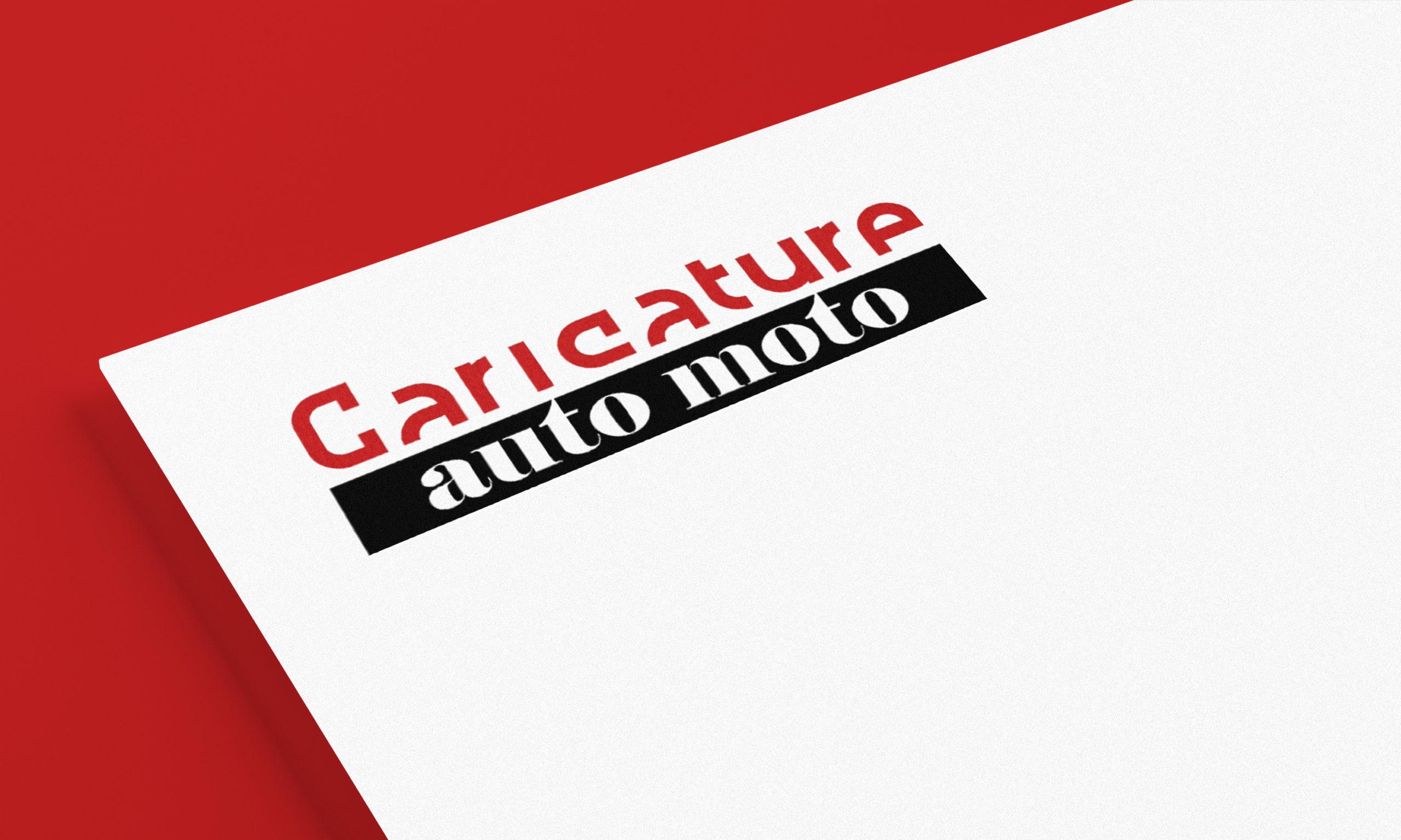 Logotype Caricature Auto Moto, vente de t-shirt personnalisés