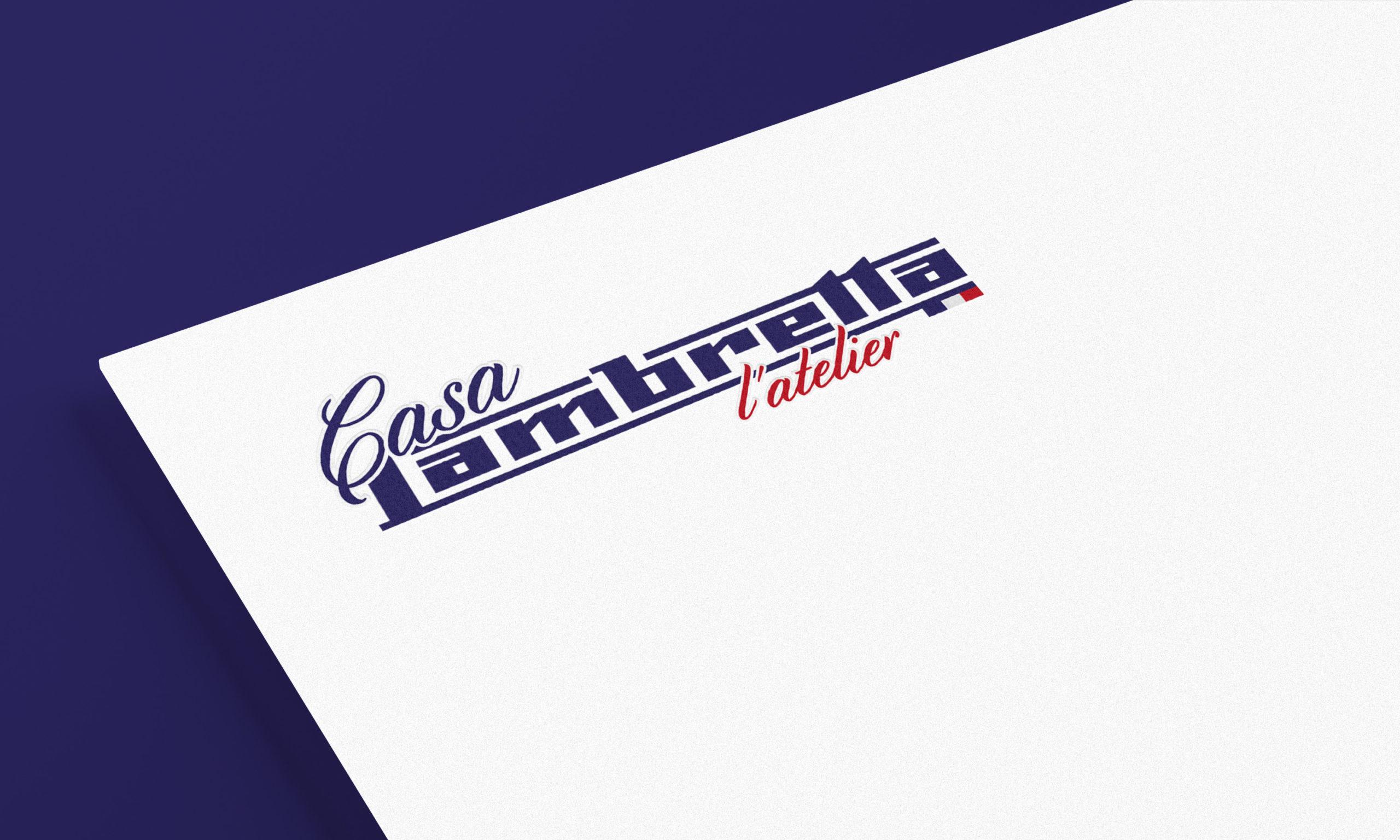 Logotype Casa Lambretta l'Atelier, réparation de scooters Lambretta et Vespa
