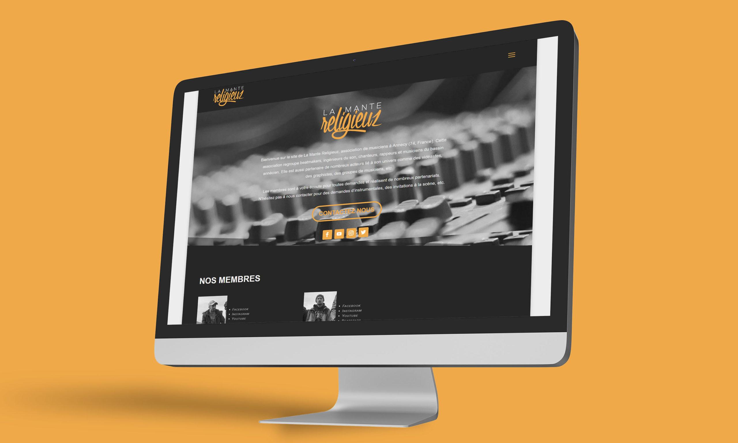 Site internet LaManteReligieuz, association rap et musique d'Annecy