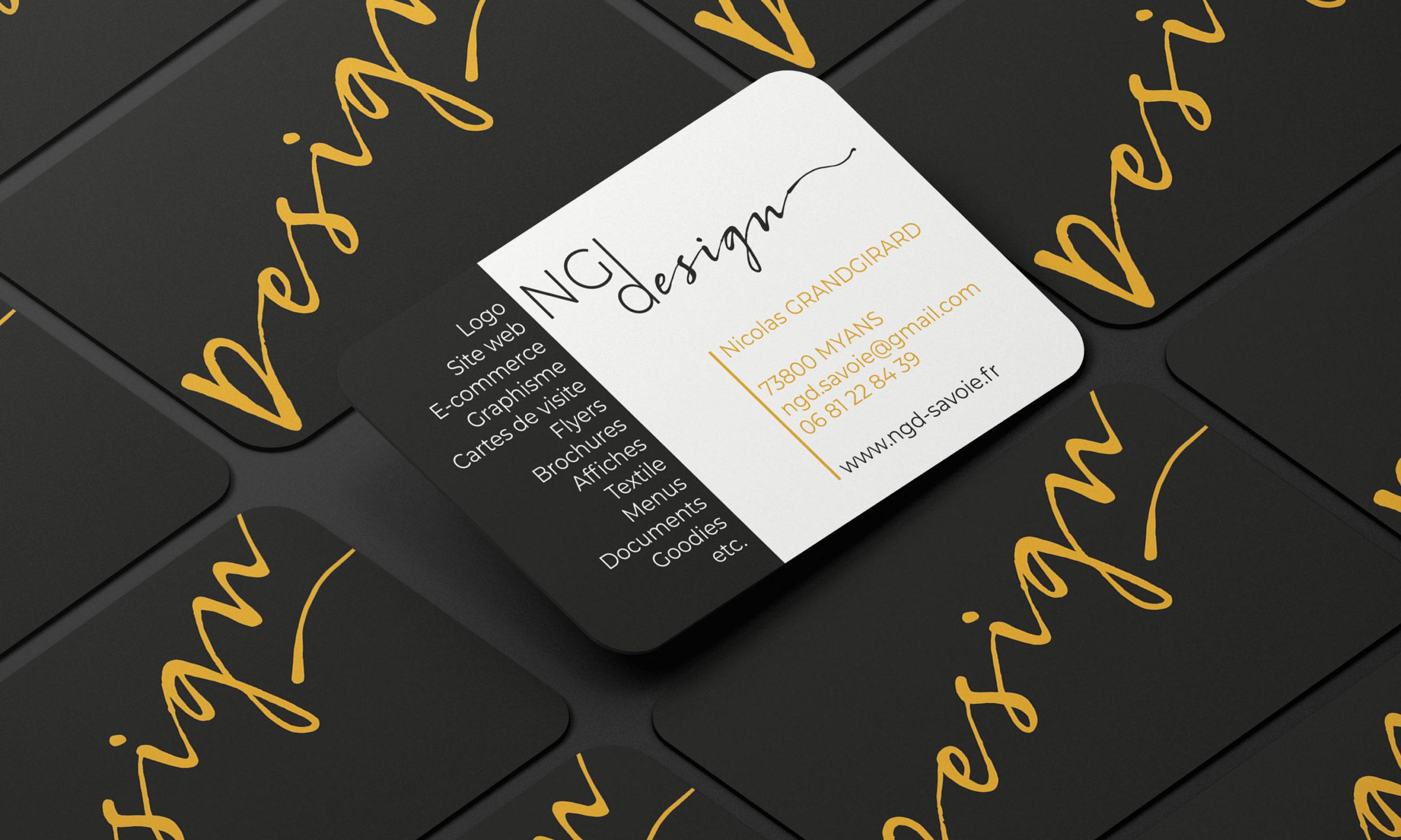 Cartes de visite NGDesign, graphiste et concepteur web