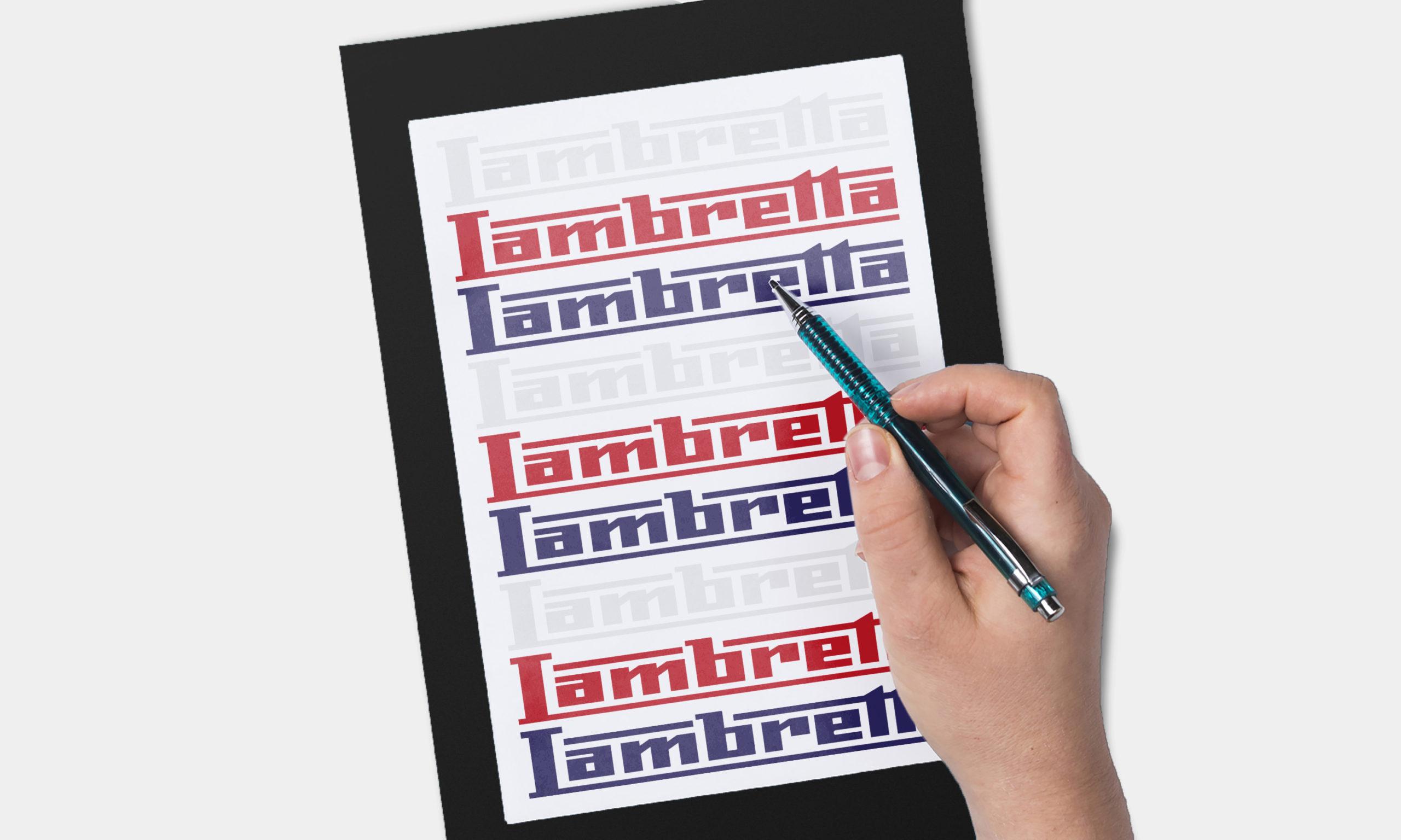 Design insignes Lambretta en couleur