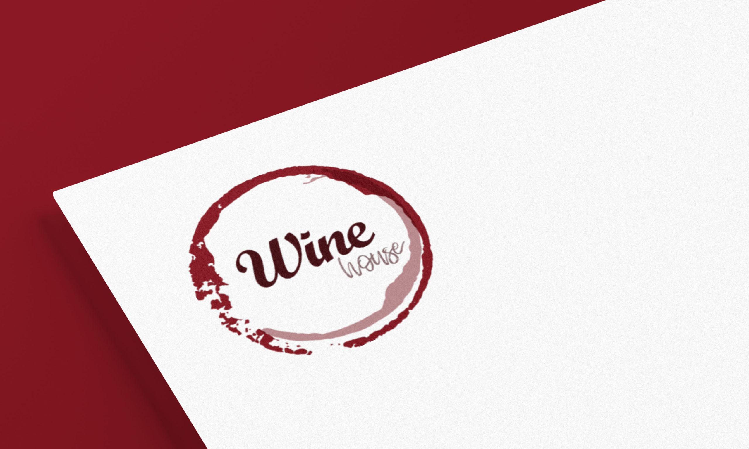 Logo vin, concept Wine House par l'agence de communication NGDesign.