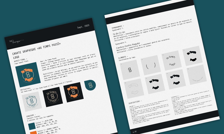 Étapes de conception de logo. Parfait pour mettre en place la charte graphique. NGDesign