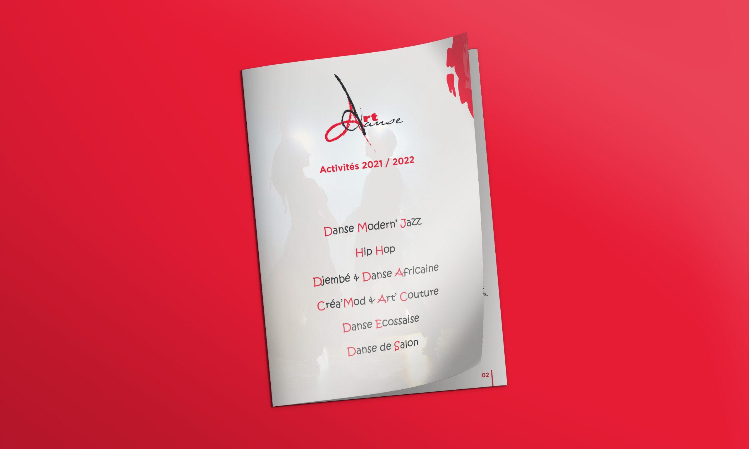 Brochures pour l'association Art Danse à La Rochette. Réalisation par NGDESIGN, agence de communication sur Chambéry
