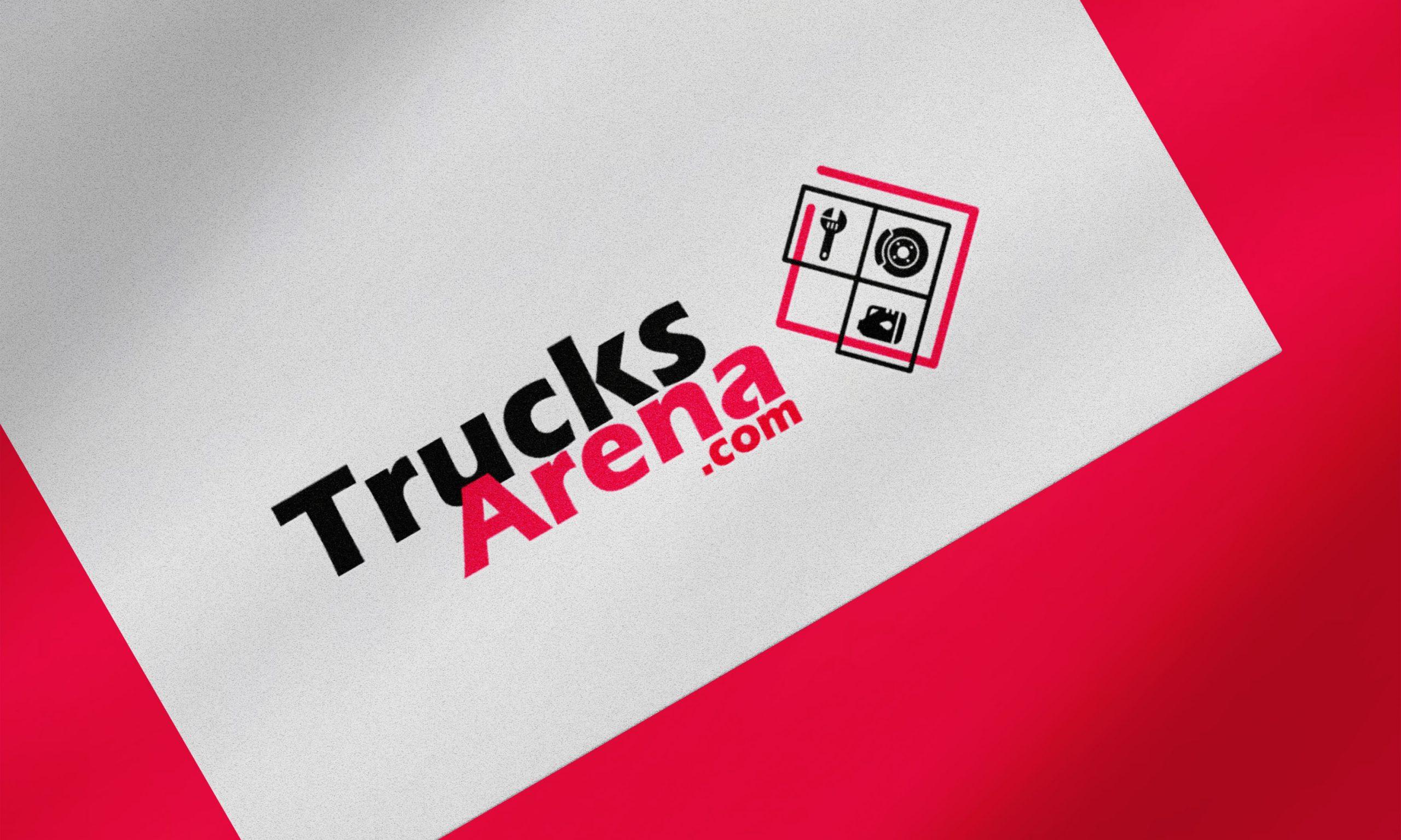 Logo vente en ligne pour Trucks Arena. Par NGDesign, agence de communication en savoie